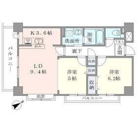 Apartment・H5002階Fの間取り画像