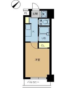スカイコート浜松町3階Fの間取り画像
