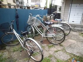 自転車置場はこちら!