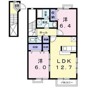 2LDK 63.19平米 5.1万円 香川県高松市木太町