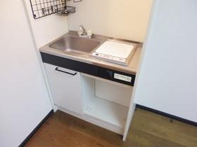 電気コンロ設置済みのキッチンです。