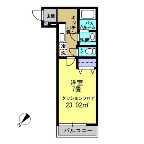 K2.1帖・洋室7帖♪