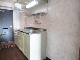 2口コンロ設置可のキッチンで、このスペース!