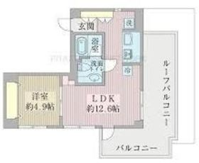 レガリアレジデンス自由ヶ丘イクス5階Fの間取り画像