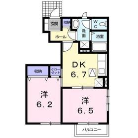 2DK 46.92平米 4.2万円 香川県高松市寺井町