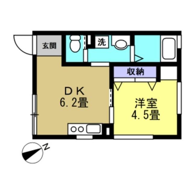 DK6.2帖・洋室4.5帖