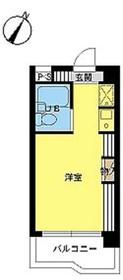 スカイコート明大前第28階Fの間取り画像