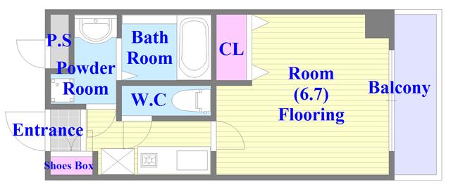 バストイレがセパレート、独立洗面所のある使い易い間取りです。