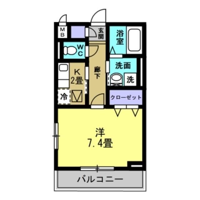 K2帖・洋室7.4帖