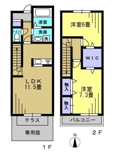 2LDK LDK11.5 洋7.3 洋6
