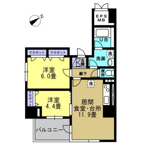 LDK11.9帖 洋室6帖 洋室4.4帖
