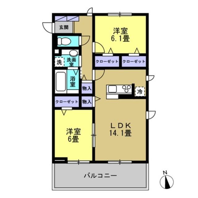 LDK14.1帖・洋室6帖・洋室6.1