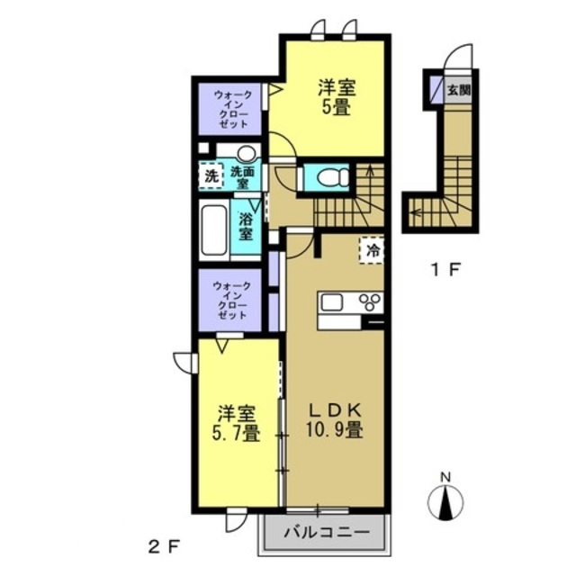 LDK10.9帖・洋室5.7帖・洋室5帖