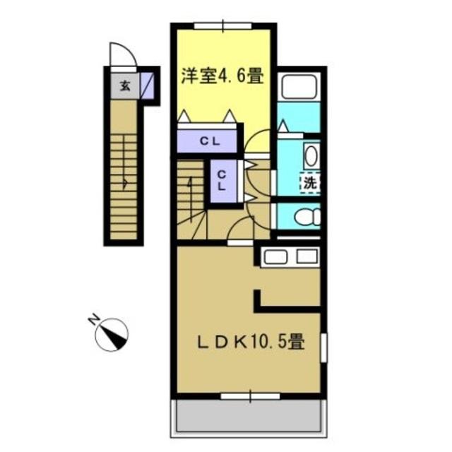 LDK10.5帖・洋室4.6帖