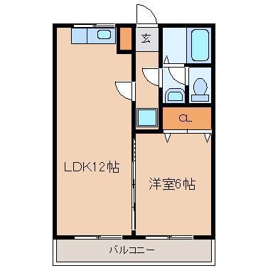 1LDK LDK12 洋6