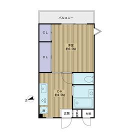 エクセレンスアキヤマ4階Fの間取り画像