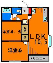 オール洋室の2LDK!今回1階角部屋です