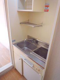 冷蔵庫、電気コンロつきのミニキッチン!