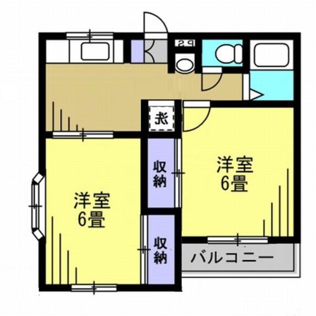 DK7帖・洋室6帖・洋室6帖