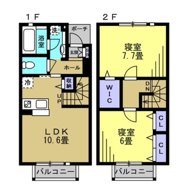 LDK10.6帖 寝室7.7帖 寝室6帖