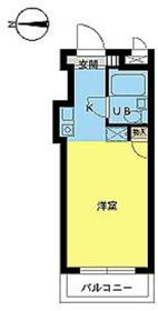 スカイコート品川21階Fの間取り画像