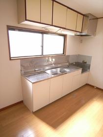 リビングにはとても大きなキッチンがあり、