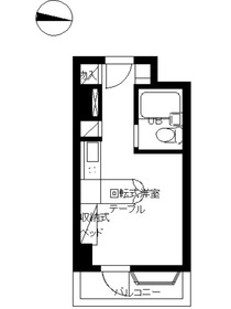 インペリアル南麻布サテライト4階Fの間取り画像