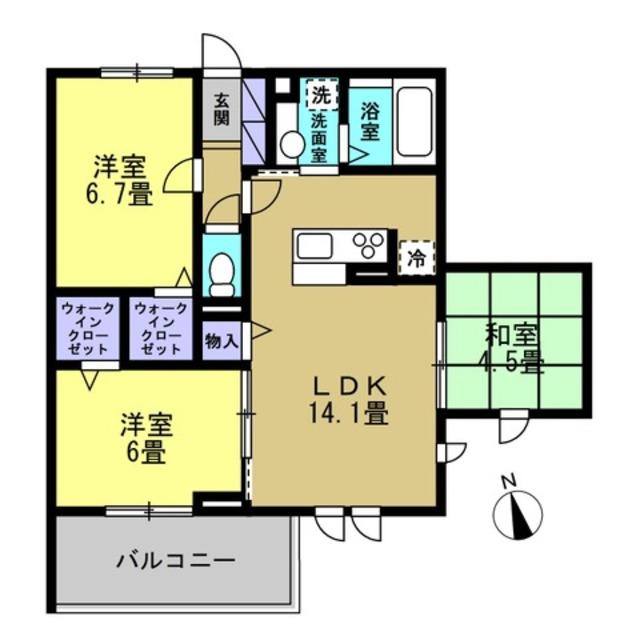 LDK14.1帖・洋室6帖・洋室6.7帖・和室4.5