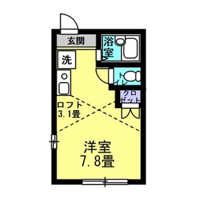 洋7.8帖 ロフト3.1帖