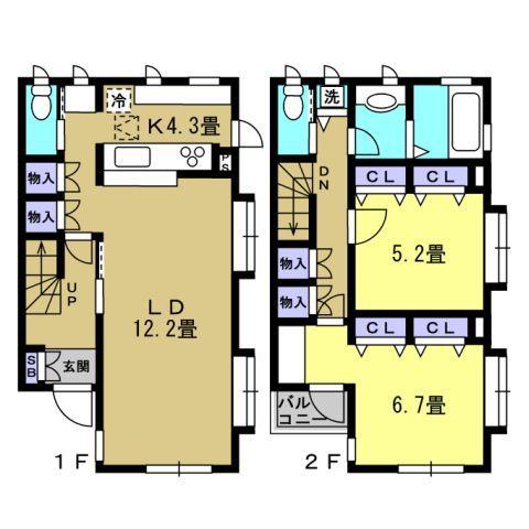 LDK16.5帖、洋室6.2帖、洋室5.2帖