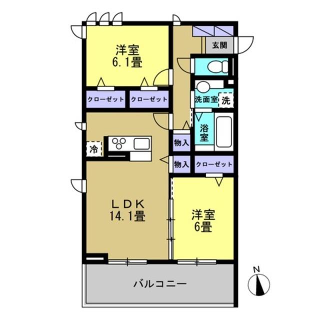 LDK14.1帖・洋室6帖・洋室6.1帖