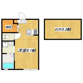 大型ロフト付きアパート。