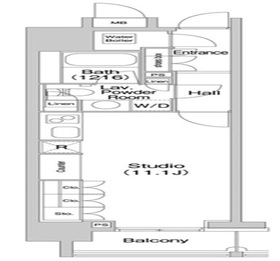 コンフォリア北参道3階Fの間取り画像