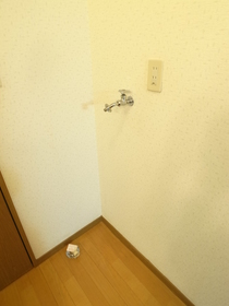 室内に洗濯機置き場ありますよ!