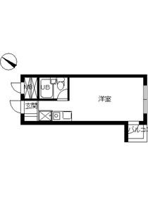 スカイコート西横浜67階Fの間取り画像