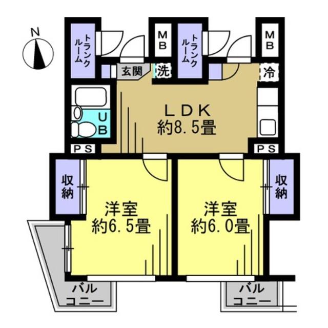 洋6帖 洋6帖 LDK8.5帖
