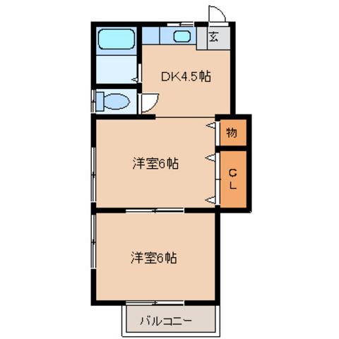DK4.5帖 洋室6帖 洋室6帖