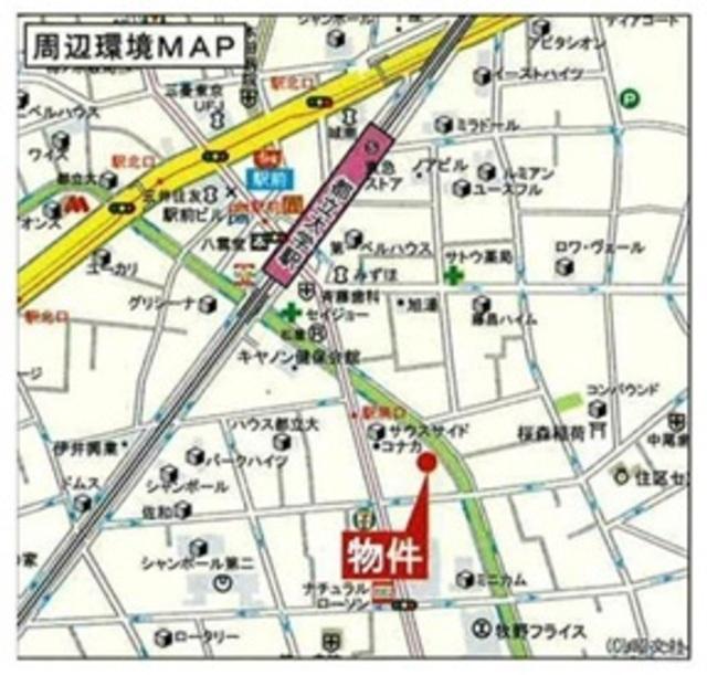 ボヌール都立大学壱番館案内図
