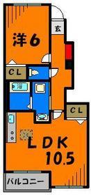 LDKと洋室が分かれているので使い勝手がいいですね!
