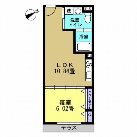 1LDK LDK10.8 洋6