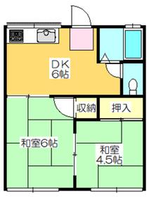 2DK 35平米 3.5万円 愛媛県新居浜市港町