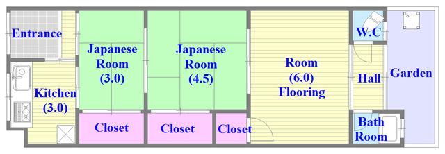 各部屋がゆったりとした、ファミリータイプの間取り。