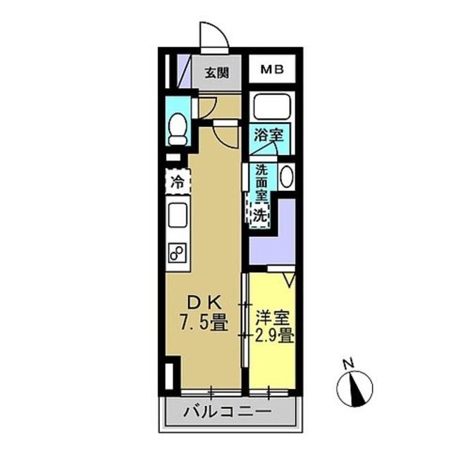DK7.5帖・洋室2.9帖
