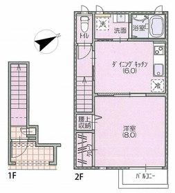 ソレイユ松陰2階Fの間取り画像