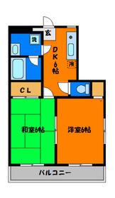 洋室・和室それぞれ6帖完備!!