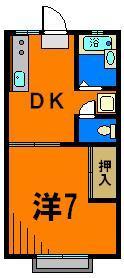 駅徒歩2分の1Kアパート! コノ部屋好きです!