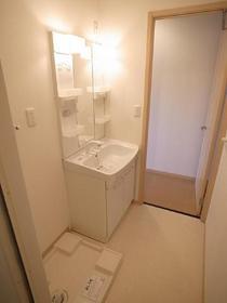 便利なシャワー付きの独立洗面台☆