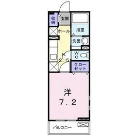 1K 26.09平米 4.5万円 愛媛県西条市大師町