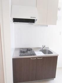 ワンレバー式混合水栓キッチン。