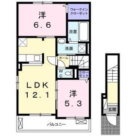 2LDK 58.99平米 5.9万円 香川県高松市一宮町